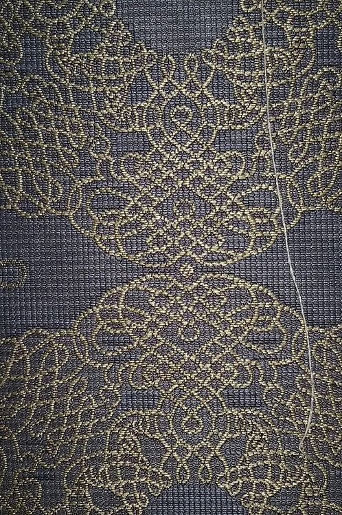 Gray Golden Line Pattern Fabric Upholstery