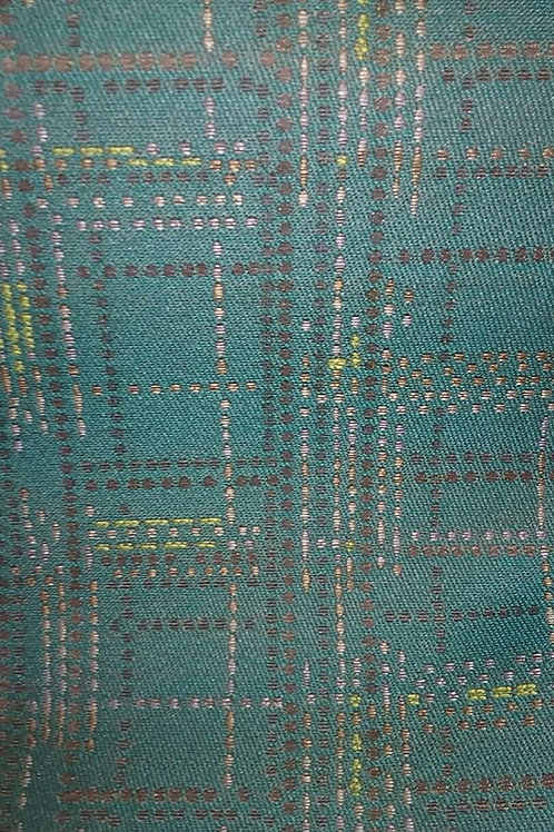 Light Blue Yellow Brown Tan Green Pattern Fabric Upholstery