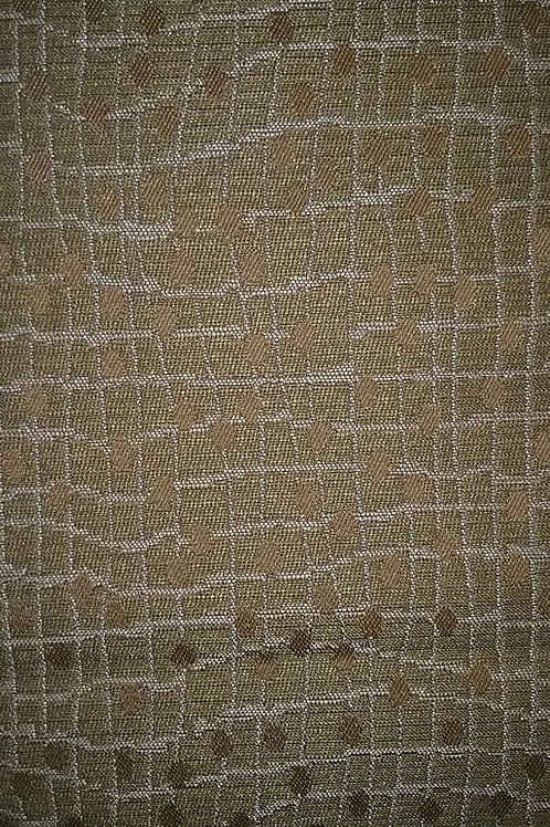 Olive Background Gold dots and Tan Lines Fabric Upholstery