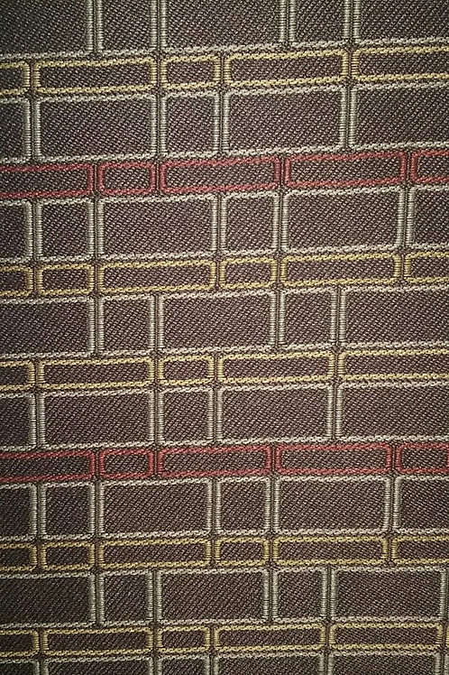 Light Brown and Golden Brown Square Pattern Fabric Upholstery