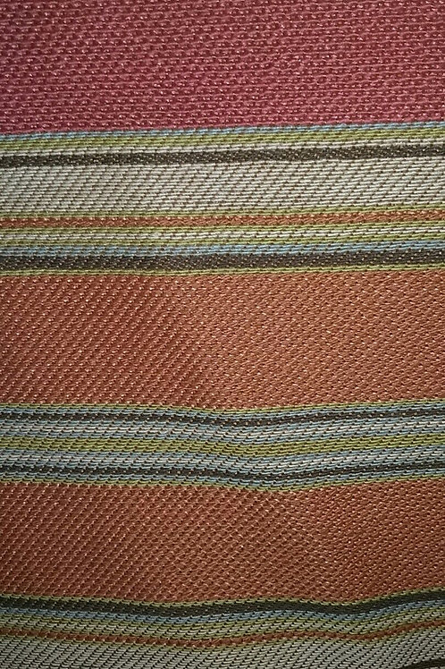 Light Red with Blue Green White Brown Fabric Upholstery