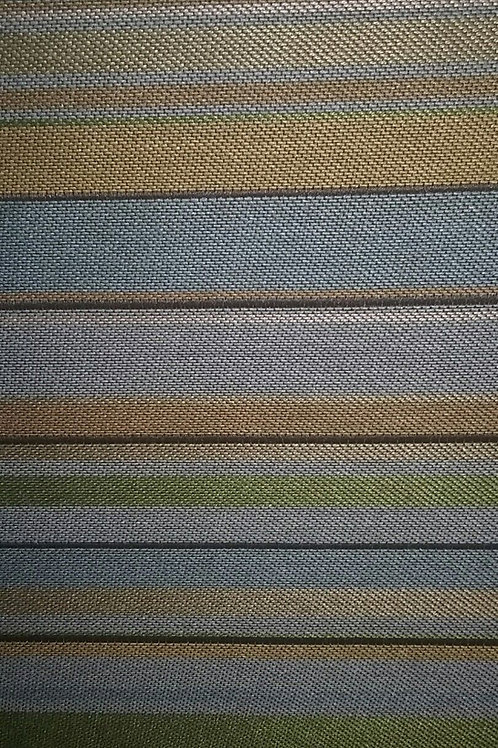 Stripes Green Blue Gold Fabric Upholstery