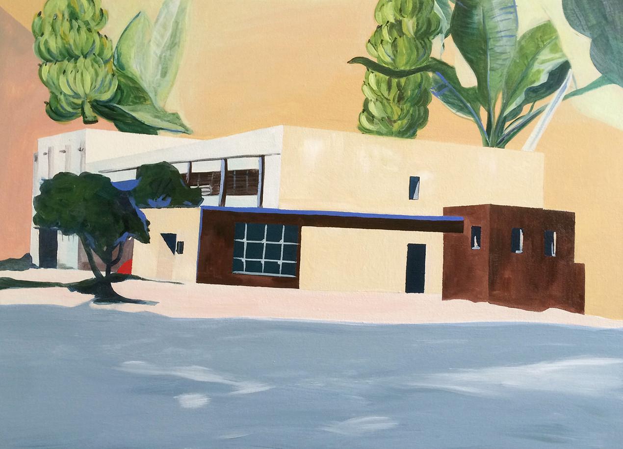 בית איתמר, הציור הסופי, 2018 | אקריליק על בד, 70 על 50 סמ