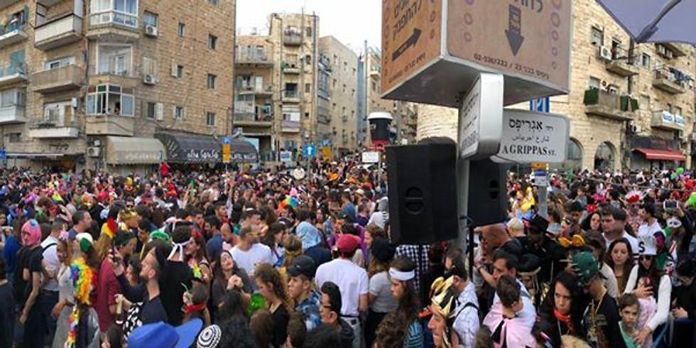 ירושלים | מסיבת רחוב - פורים בנחלאות 2020