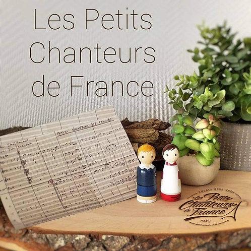 Figurines en bois Petits Chanteurs de France