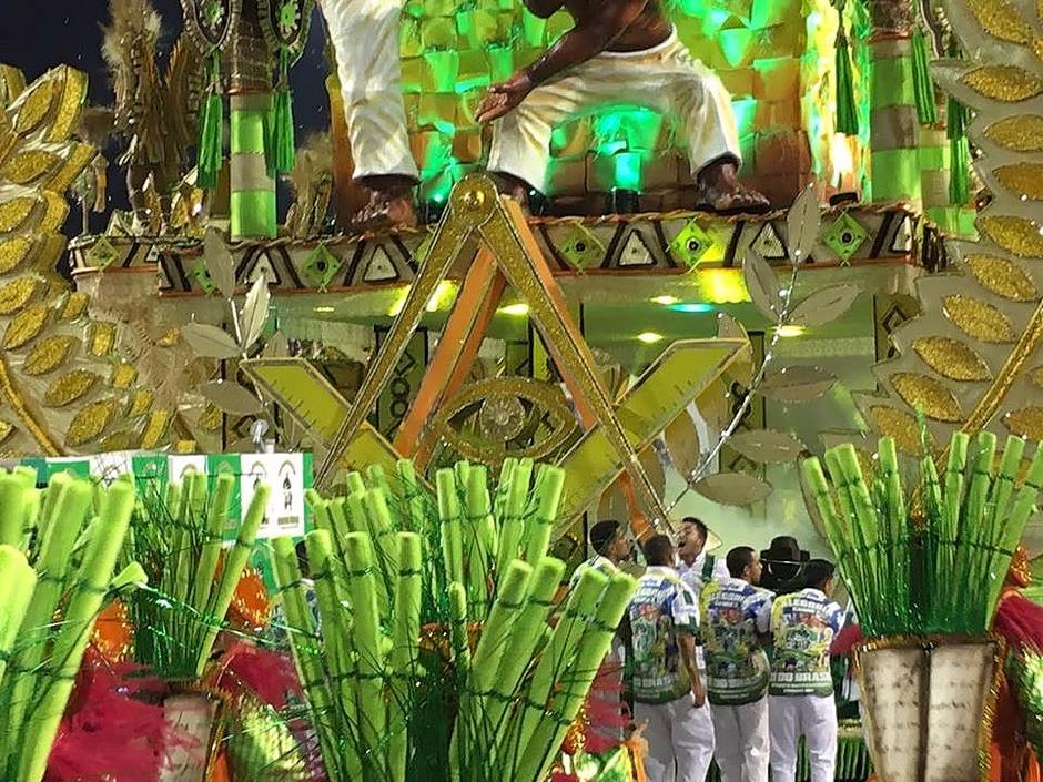 Uma imagem fascinante no Carnaval do Brasil em 2017