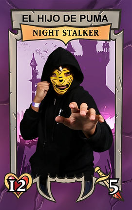PAX trading card photo booth night stalker