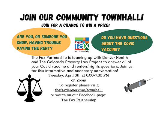 Community Town Hall on Renters' Housing Rights with The Fax Partnership and Denver Health