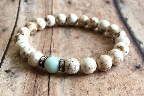 White Magnesite Yoga Bracelet