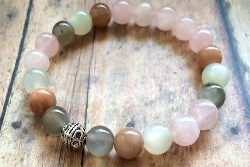 Moonstone & Rose Quartz Fertility Bracelet