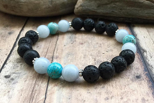 Throat Chakra Essential Oil Diffuser Bracelet