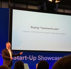 Peter Coppinger of Teamworks talking about buying www.teamwork.com for §675,000 at Enterprise Ireland, Start up Showcase 2019