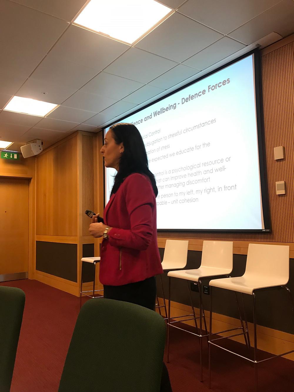 Yvonne Kearney Irish Defence Forces PepTalk - Corporate Wellbeing