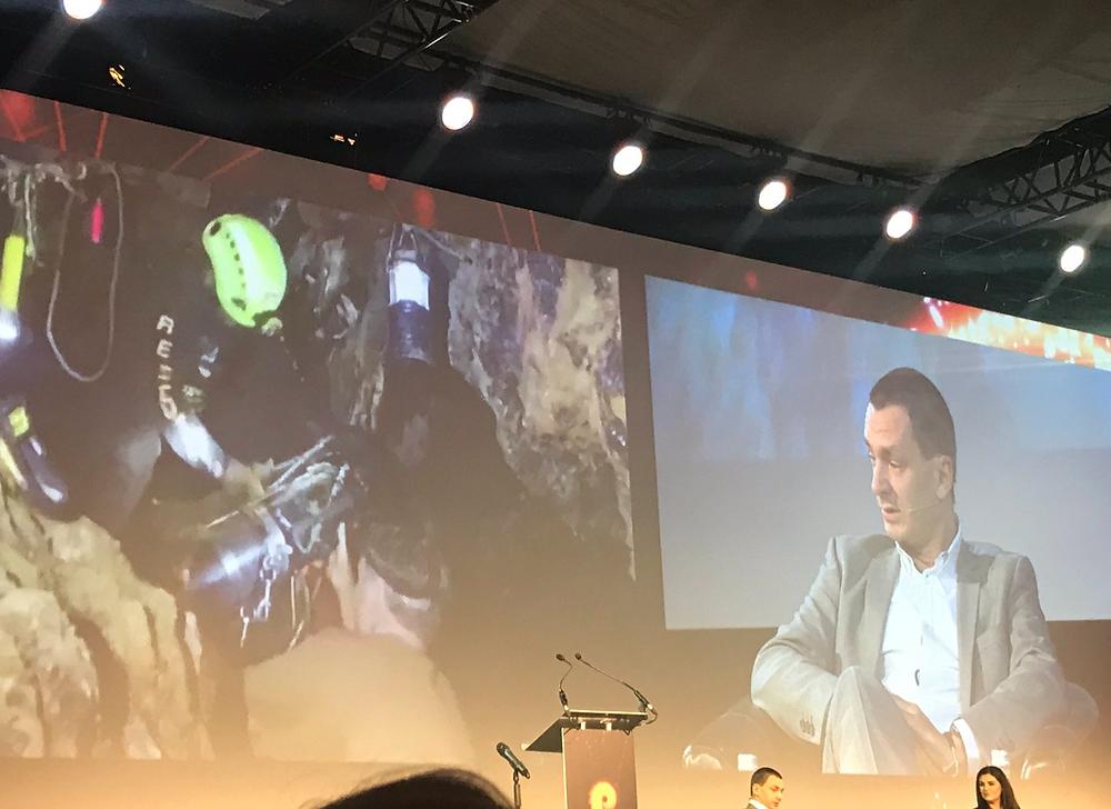 Thailand cave rescue diver,  Jim Warny speaking at The Pendulum Summit, Dublin