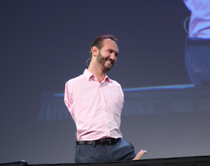 Nick Vujicic speaking at The Pendulum Summit, Dublin