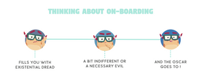 How do people feel when thinking about new employee on-boarding
