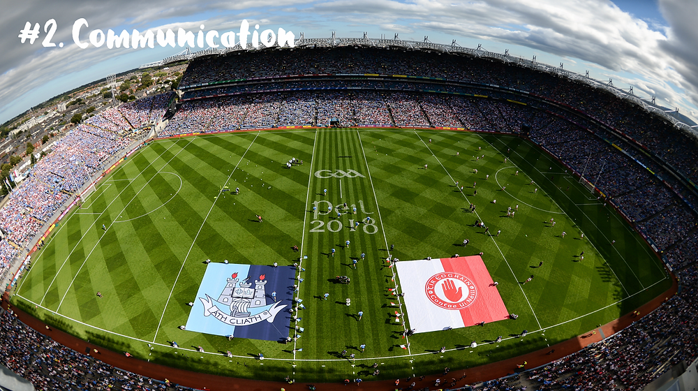 Communication on the pitch at Croke Park