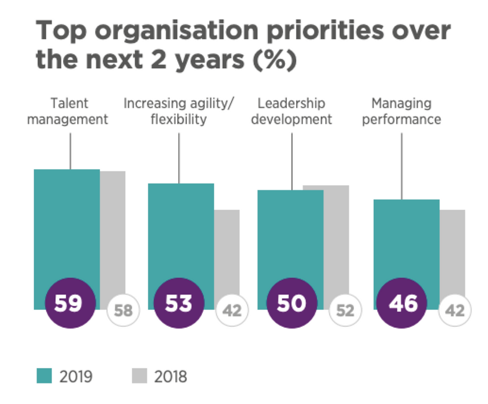 Top organisational priorities over the next 2 years