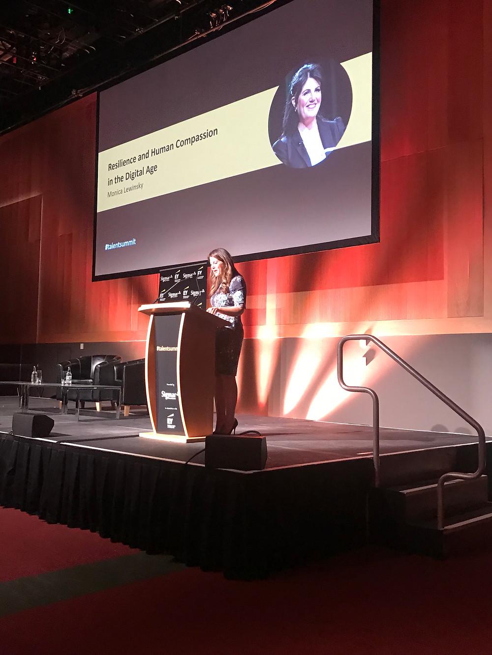 Monica  Lewinsky, Social Activist at Talent Summit, Dublin