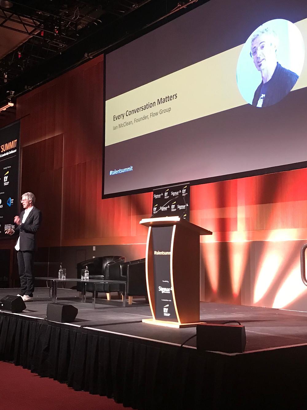 Ian McClean, Founder @ The Flow Group at Talent Summit, Dublin