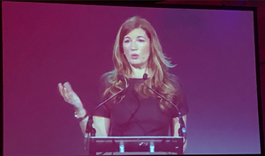 Barroness Karren Brady CBE speaking at The Pendulum Summit, Dublin