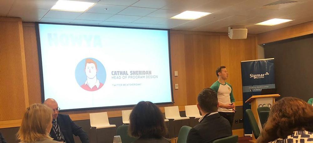 Cathal Sheridan Talent Summit PepTalk - Corporate Wellbeing