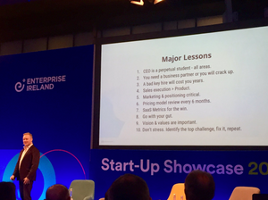 Peter Coppinger of Teamworks at Enterprise Ireland, Start up Showcase 2019