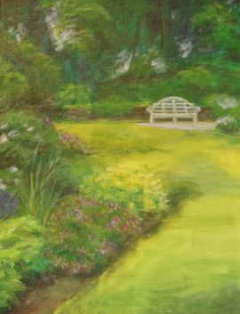 Aunt Josephine in the Garden Triptych