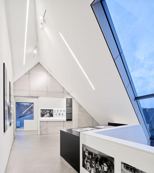 Architekturfotografie Museum Baumholder Dämmerung Innenansicht