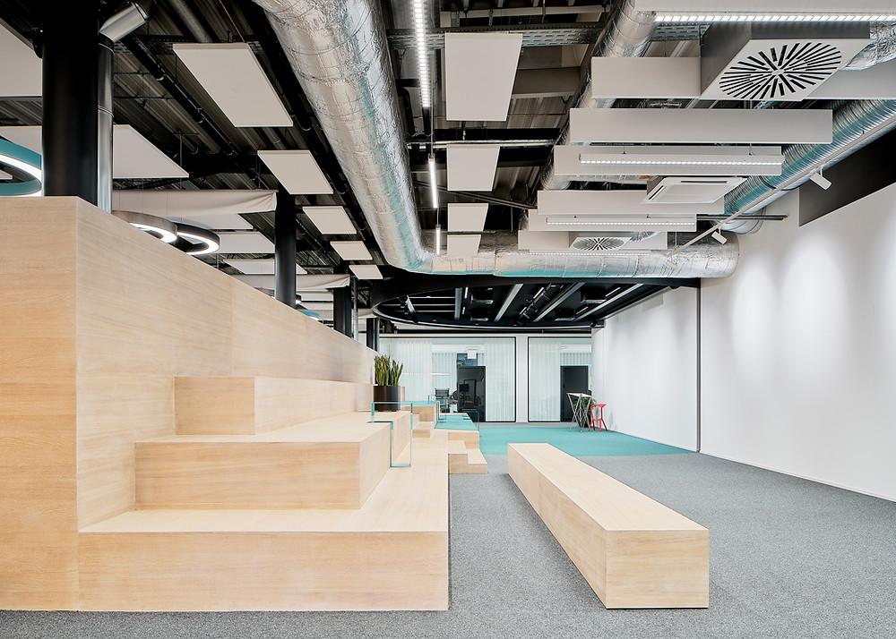 Architekturfotografie eines Bürointerieurs der Schott AG in Mainz