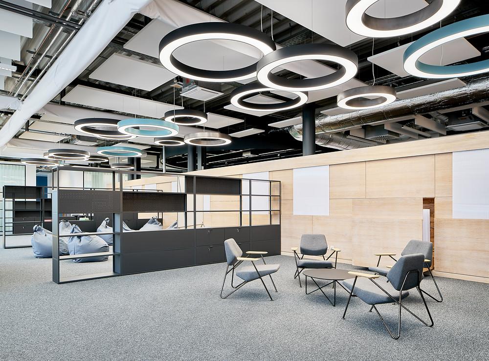 Architekturfotografie und Interieurfotografie eines neuen Raumkonzepts für Digital Initiativen der Schott AG.