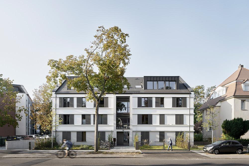 Architekturfotografie des Mehrfamilienhaus in Mainz, Oberstadt