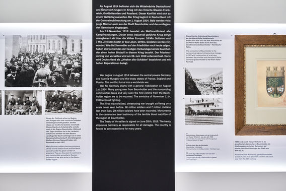 Architekturfotografie Museum Baumholder Schaukasten Detail
