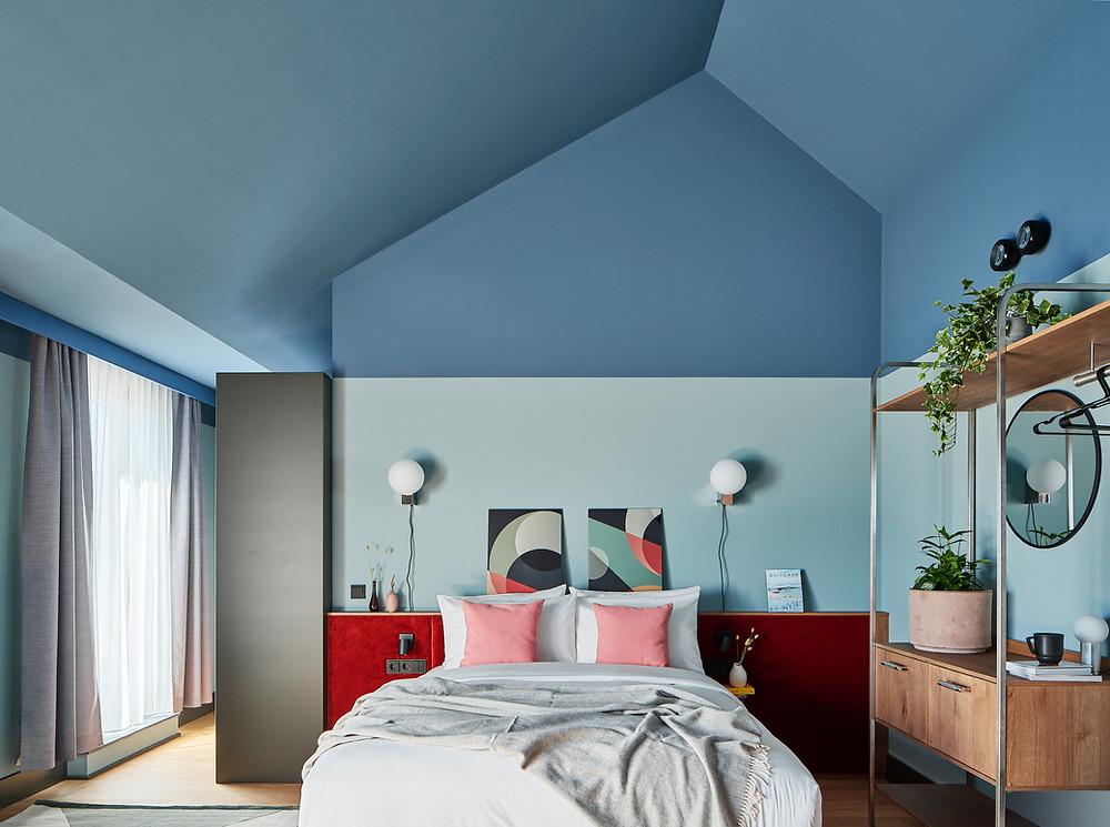 Interiorfotografie und Hotelfotografie des Designerhotels Schwan Locke in München.