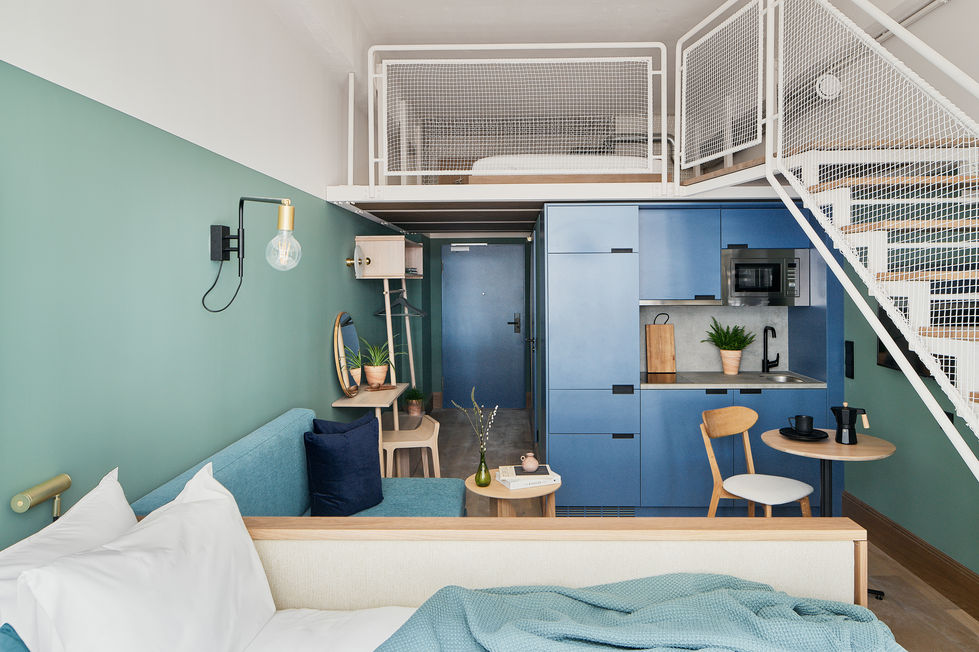 Architekturfotografie des Hotels WunderLocke in München