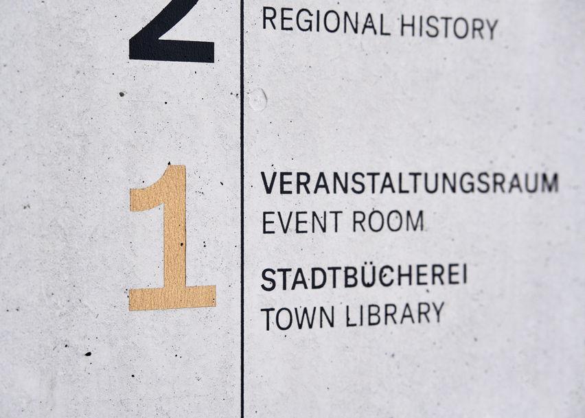 Architekturfotografie Museum Baumholder Wand Detail