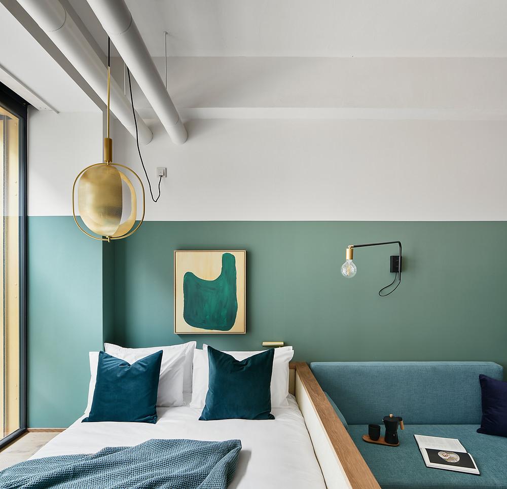 Architekturfotografie und Interieurfotografie zweier Hotels in München.