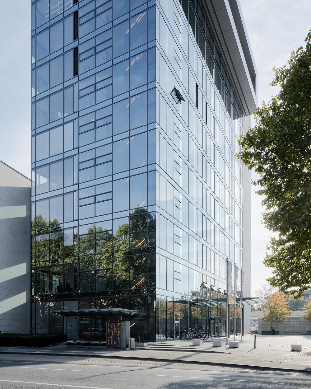 Architekturaufnahme der Mainzer Stadtwerkezentrale in Mainz.