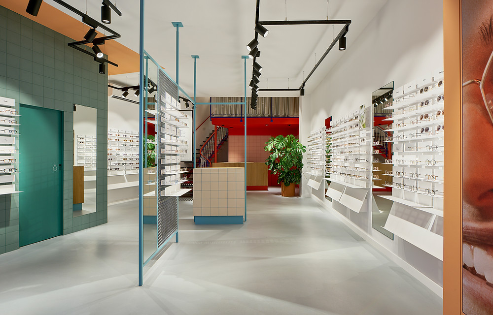 Showroom der Brillen Marke Ace & Tate in Hamburg.