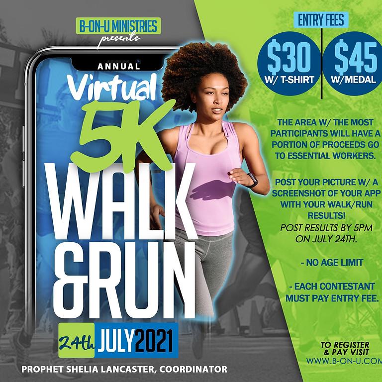Virtual 5k Walk & Run