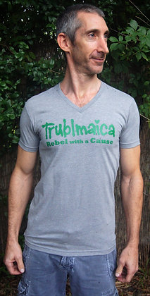V neck T-shirt(M): Rebel with a Cause