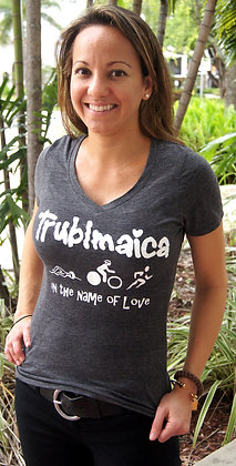 V neck T-Shirt(F):Tri in the name of love