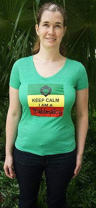 V-neck T-Shirt (F) : Keep Calm