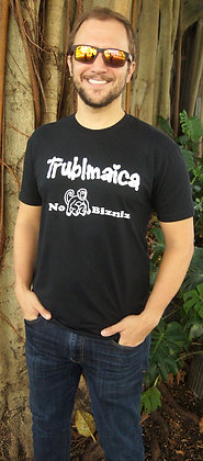 Crew neck T-shirt(M): No Monkey Bizniz
