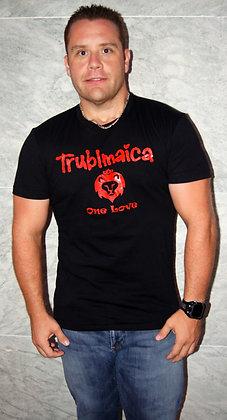 Crew neck T-shirt (M): One Love Lion