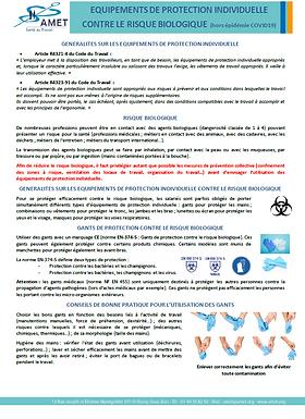AMET_ Protection risque biologique (hors