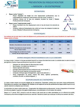 AMET_ Prévention_ Risque routier_ Employ