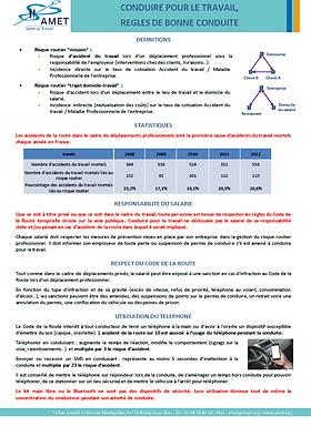AMET_ Prévention_ Risque routier_ Salari