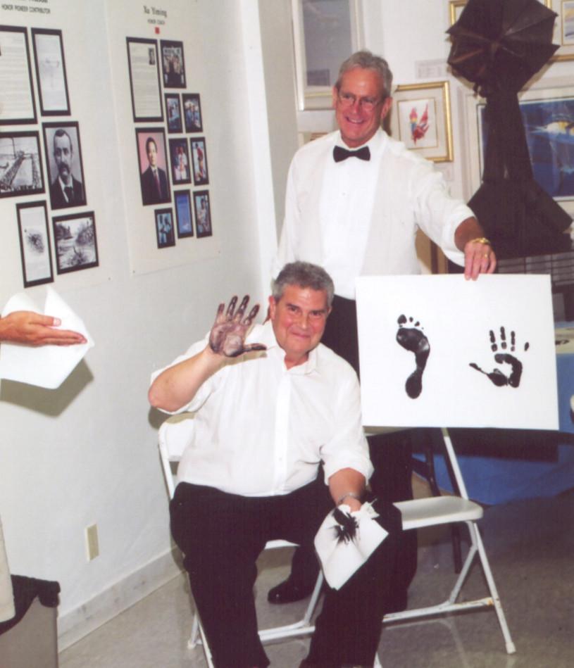 ISHOF 2003 Horatio Iglesias and Bob Duen
