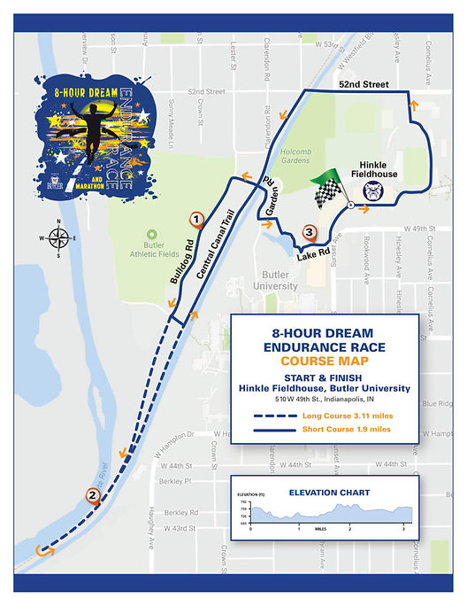 Course Maps | 8-Hour Dream Endurance Race | Indianapolis IN